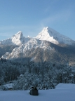 Watzmann im Winter, traumhafter Anblick von Berchtesgaden