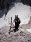 Höllental, Aufstieg zur Zugspitze, im Fels nach der Gletscherquerung