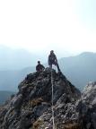 Taubenstein im Mangfallgebirge, Ankunft auf dem Gipfel via Südgrat