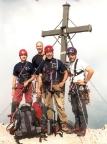 Watzmann-Südspitze, Gipfelfoto nach Besteigung der Watzmann-Ostwand