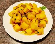 Feuriger Mangosalat nach der Art eines Ceviche