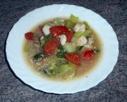 Fischsuppe mit Pak Soi, scharf, nach einem Rezept aus Thailand