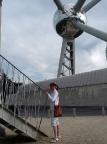 Geocaching am Atomium Brüssel - kaum zu glauben, dass da eine Dose liegt!