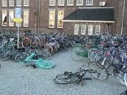 Von wegen meine Heimatstadt Forst ist die Stadt der Radfahrer - am Bahnhof Maastricht