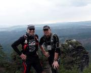 Trailrunning mit Volker im Elbsandsteingebirge, hier an der Böhmischen Aussicht