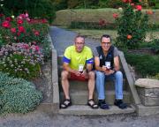Mit Volker nach dem Festungslauf auf die Festung Königstein