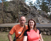Klettern am Rothsteiner Felsen, dem einzigen natürlichen Felsen Brandenburgs