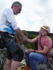 Berg heil mit Fechi auf dem Gipfel Breithorn, aber nicht in den Alpen