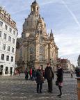 Mit Stammtischfreund Peter und Frau Anne beim Besuch der Dresdener Frauenkirche