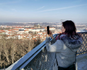 Besuch des Aussichtsturms Petřín auf dem Petřín-Hügel bei unserer Pragreise