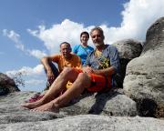 Auf dem Gipfel des Falkensteins nach der besten Bergfahrt des Jahres