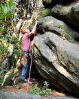 An der Sächsischen Dianawand bei Lückendorf im Zittauer Gebirge