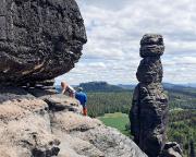 Das Leben kehrt zurück – klettern am Keilerturm, Pfingsten 2020