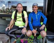 Mit Mirko Löbel nach den 73,9 km der Aktion Rennsteigläufer@Home