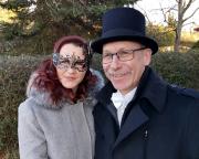 Kurz darauf der kulturelle Jahresstart – auf dem Weg zur Fledermaus in der Semperoper