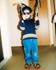 März 2004 - Früh übt sich, wer Meister im Eisklettern werden will
