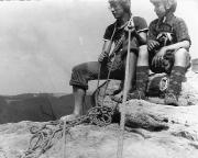 21.08.1978 - mein dritter Klettertag -Rabentürmchen, auf dem Gipfel