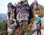 24.03.2001 - Volker auf der Feldwand in Rathen