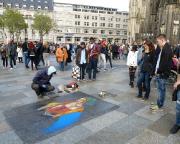 Köln 2015 - Domplatte Köln, ein Tummeplatz für Straßen- und richtige Künstler, immer ein Besuch wert!
