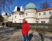 Am Štefánik-Observatorium auf dem Petřín-Hügel im Zentrum Prags
