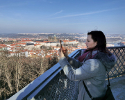 Insgesamt bietet sich hier ein genialer Rundblick, Almuth produziert Panoramen