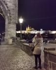 An der Karlsbrücke mit Blick auf Hradschin mit Veitsdom