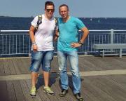 Kurztripp nach Wismar - Kurz nach unserer Ankunft auf der längsten Seebrücke Mecklenburgs, die direkt vor unserem Hotel lag.