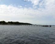 Kurztripp nach Wismar - Blick auf die Seebrücke vor unserem Hotel - mehr als 300m lang.