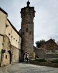 Wir betreten Rothenburg ob der Tauber durch das Klingentor
