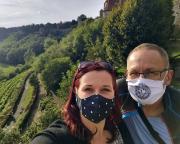 Das Bild nochmal – mit Mund-Nasenschutz wegen der Corona-Pandemie