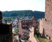 Dieser Blick lässt die einstige Größe dieser Burg sehr gut erahnen