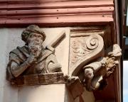 Detailaufnahme der Gewerke am Haus der vier Gekrönten