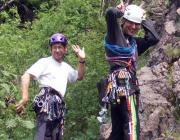 Ein wenig Spaß kann und muss beim Klettern sein