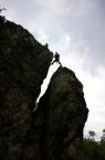 Ausstieg auf den Gipfel einer der 12 Apostel bei Oberhof