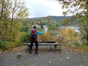 Ankunft an der Talsperre Wendenfurt, Christiane tanzt …