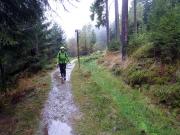 Regeneindrücke 1 - leerer Graben des Oberharzer Wasserregals