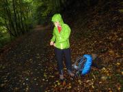 Wenige Kilometer vor Altenbrak – einmal mehr wieder Starkregen
