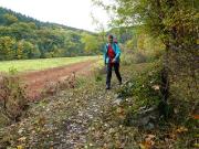 Am wasserlosen Ausläufer der Talsperre Wendenfurth