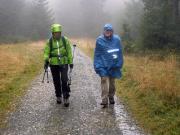 Abstieg vom Brocken wieder im Regen nach Drei Annen Hohne