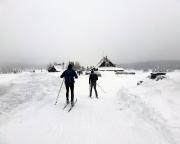 Nach knapp 5 km Ankunft in Jizerka, einem langgezogenen Ort, an dem es ordentlich zog