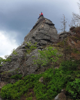 Dieser Blick verrät, warum der Gipfel Kleines Matterhorn heißt - und zeigt, wie spitz er ist