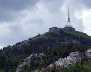 Dem Gipfel des Ještěd ganz nah, hier aufgenommen vom angesteuerten Klettergebiet
