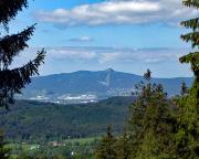Der Ještěd über Liberec, hier aufgenommen bei unser Männertagswanderung vom Restaurant Slovanka bei Hrabetice