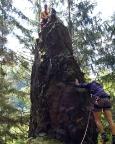 Klettern im Lauschagrund bei Tabarz - Lauschagrundnadel