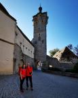 Jetzt geht es los, Start am Klingentor in Rothenburg odT