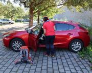 Der Parkplatz am Klingentor ist der ideale Abstellort für den PKW
