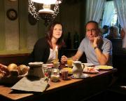 Frühstück in der Altfränkischen Weinstube vor dem Start