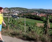 Rückblick auf Weikersheim, wir haben einen besseren Aufstieg gewählt