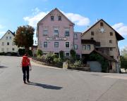 Ende des ersten Tages im Gasthaus Grüner Baum in Creglingen