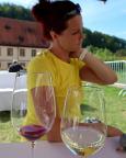 In der Wirtschaft des Klosters Bronnbach gab es dann endlich Taubertal-Weine